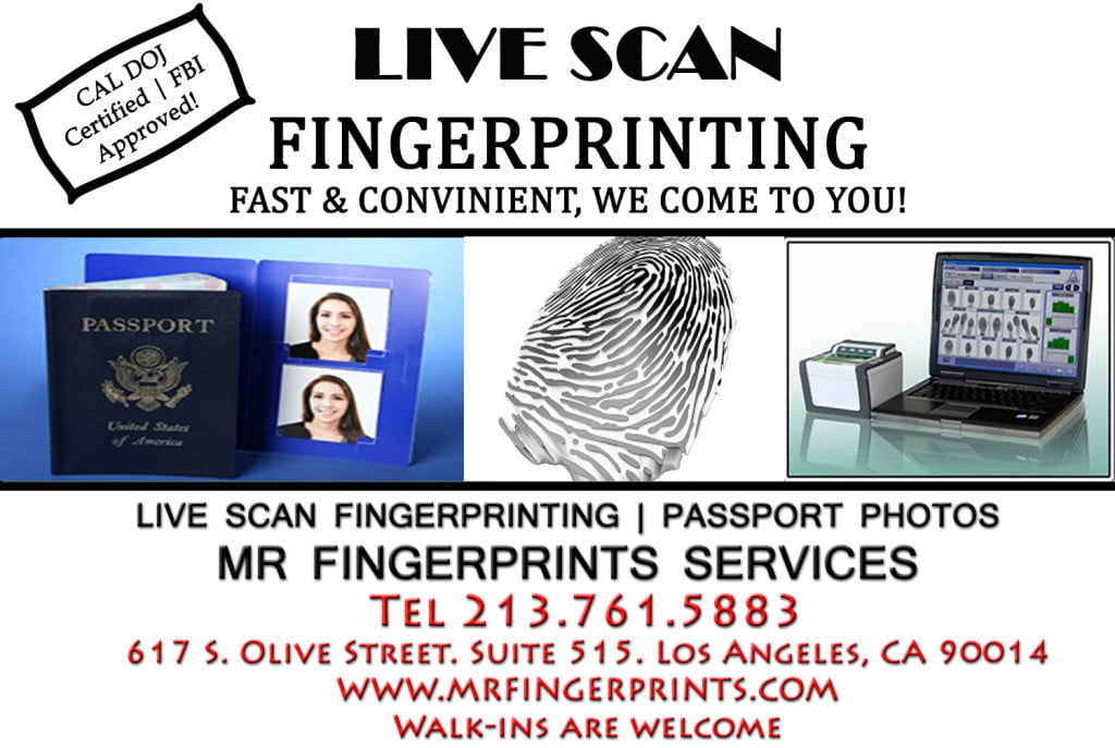 Los angeles fingerprint services