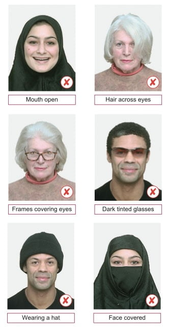 unexceptable passport photos